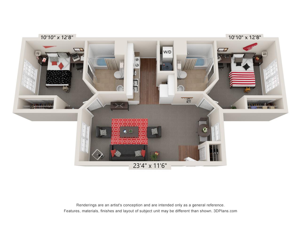 Capstone Quarters two bedroom select