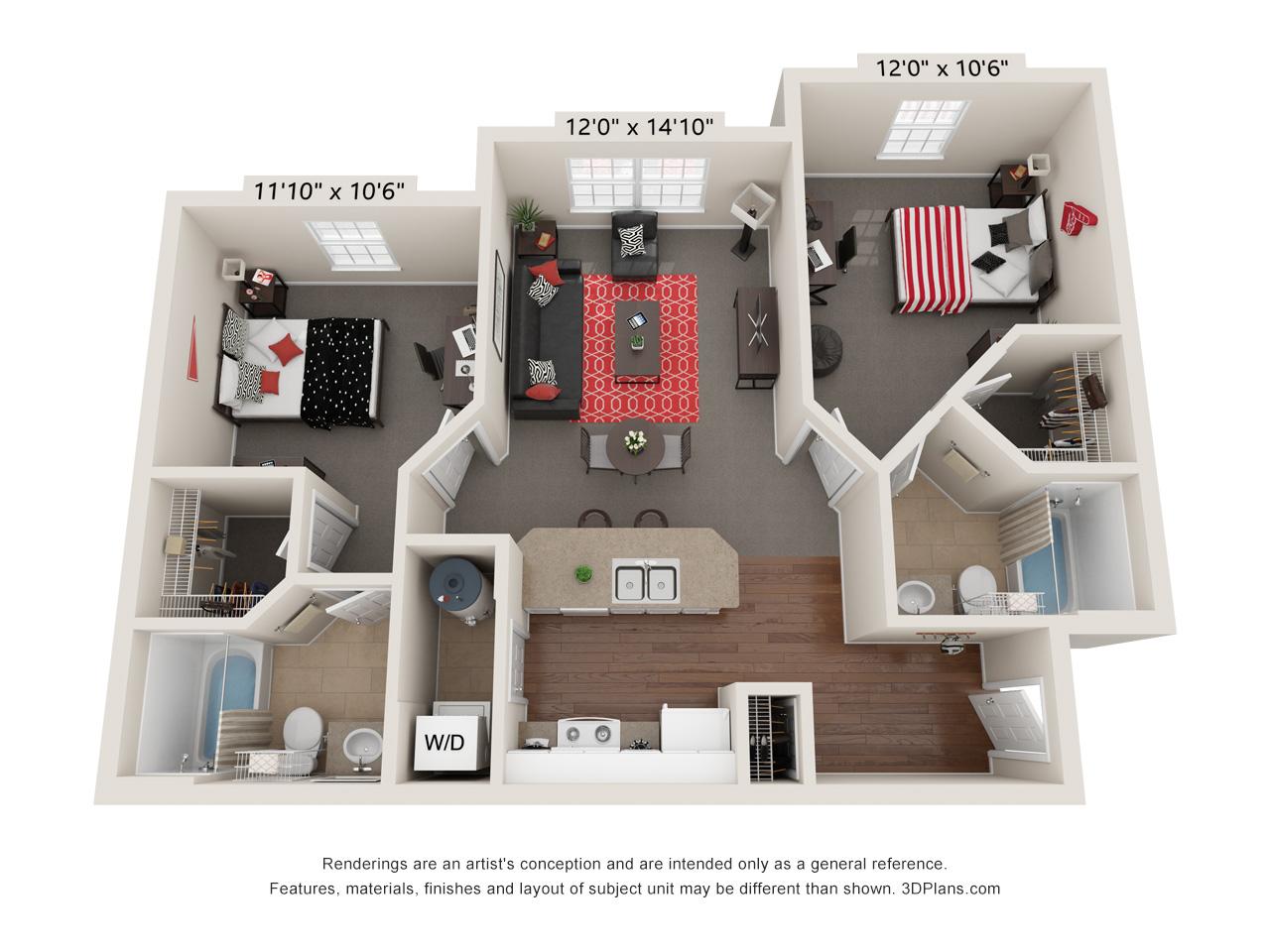 Capstone Quarters two bedroom standard