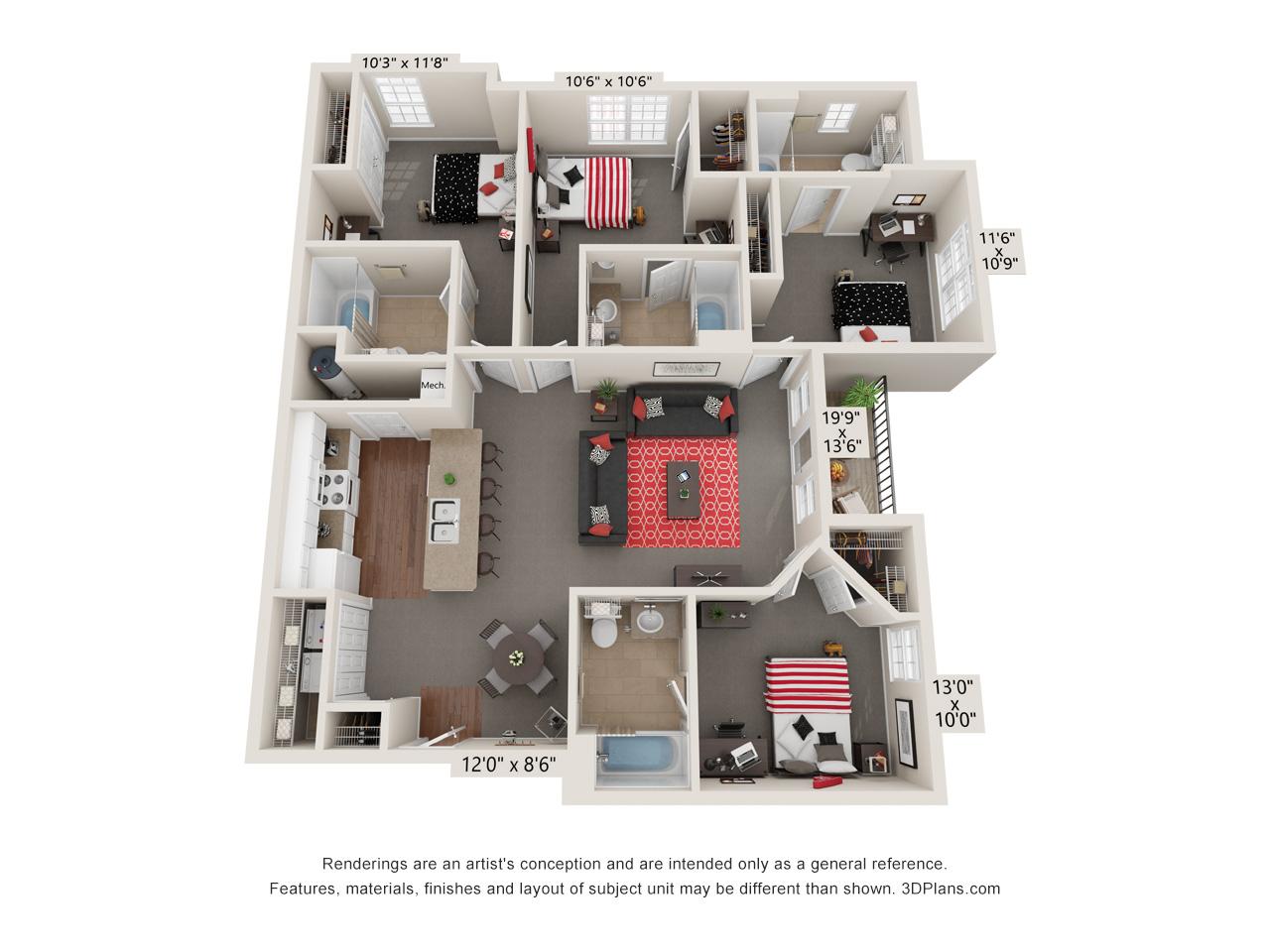 Capstone Quarters four bedroom standard