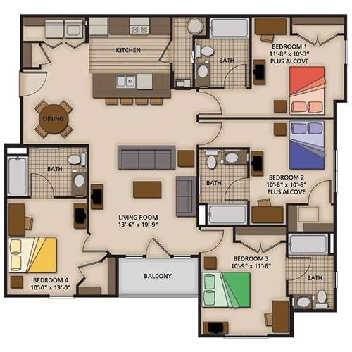 Four Bedroom Standard