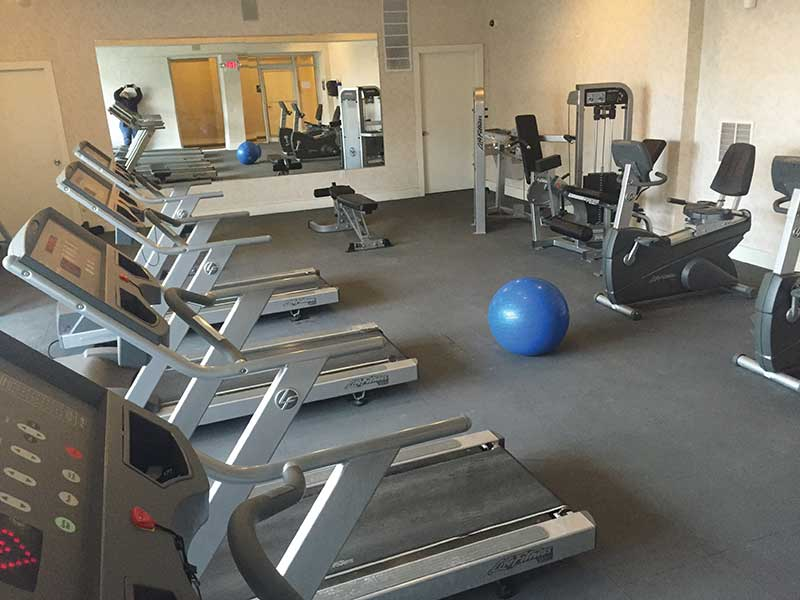 Treadmills in Fitness Area